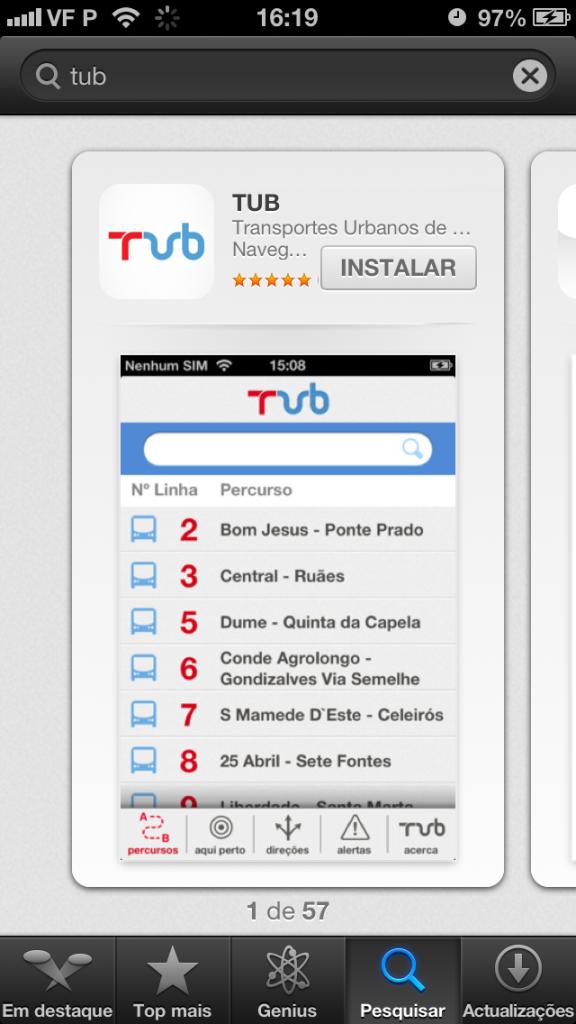 TUB na App Store